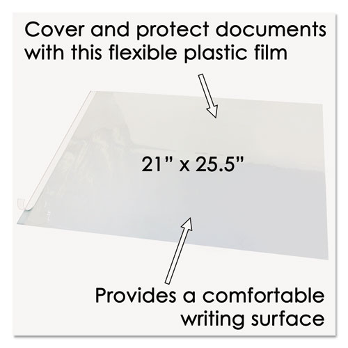 Second Sight Clear Plastic Hinged Desk Protector, 25 1/2 x 21. Picture 3