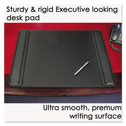 Sagamore Desk Pad w/Flip-Open Side Panels, 38 x 24, Black. Picture 4