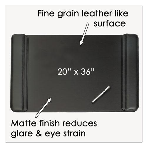 Sagamore Desk Pad w/Flip-Open Side Panels, 36 x 20, Black. Picture 2