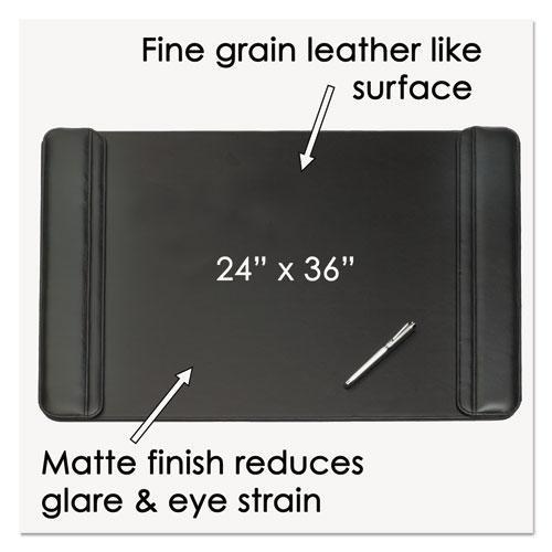 Sagamore Desk Pad w/Flip-Open Side Panels, 38 x 24, Black. Picture 5