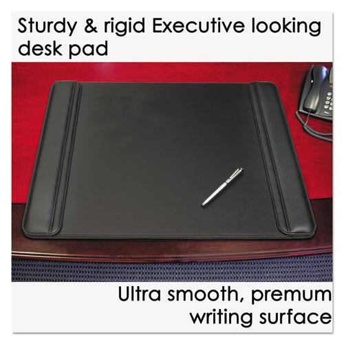 Sagamore Desk Pad w/Flip-Open Side Panels, 36 x 20, Black. Picture 4