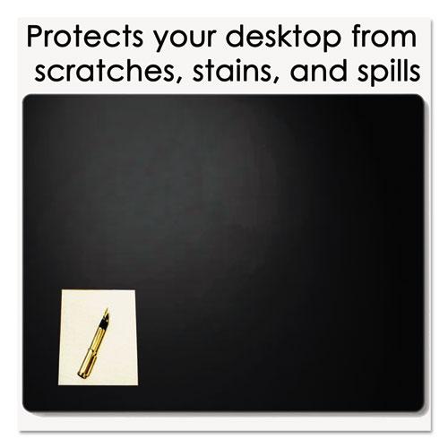 Leather Desk Pad w/Coaster, 19 x 24, Black. Picture 5