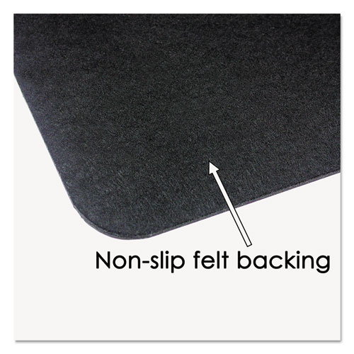 Leather Desk Pad w/Coaster, 19 x 24, Black. Picture 3