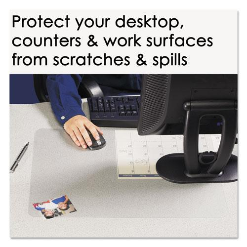 KrystalView Desk Pad with Antimicrobial Protection, 24 x 19, Matte Finish, Clear. Picture 2