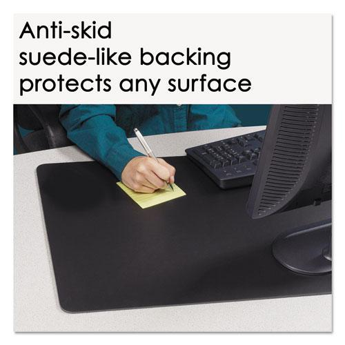 Rhinolin II Desk Pad with Antimicrobial Product Protection, 17 x 12, Black. Picture 4