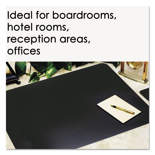 Leather Desk Pad W Coaster 20 X 36 Black