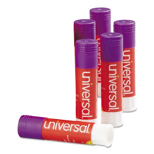 Glue Stick, 0.28 oz, Applies Purple, Dries Clear, 12/Pack. Picture 1
