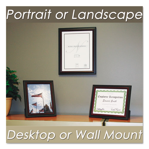 Executive Document Frame, Plastic, 8 x 10, Black/Mahogany. Picture 2