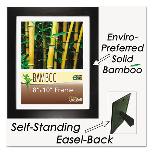 Bamboo Frame, 8 1/2 x 11, Black. Picture 3