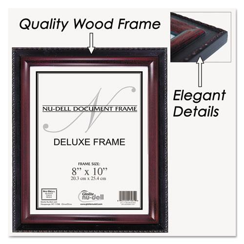 Executive Document Frame, Plastic, 8 x 10, Black/Mahogany. Picture 3