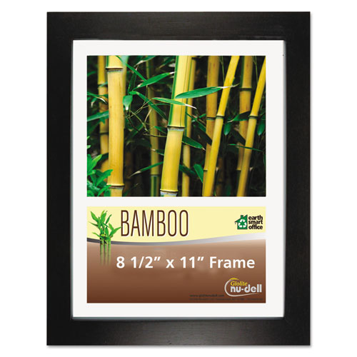 Bamboo Frame, 8 1/2 x 11, Black. Picture 1