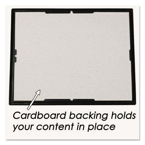 EZ Mount Document Frame with Trim Accent and Plastic Face, Plastic, 8 x 10, Black/Gold. Picture 4