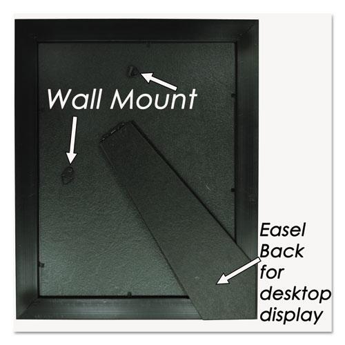 Executive Document Frame, Plastic, 8 x 10, Black/Mahogany. Picture 4