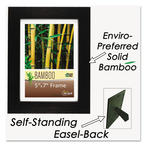 Bamboo Frame, 5 x 7, Black. Picture 3