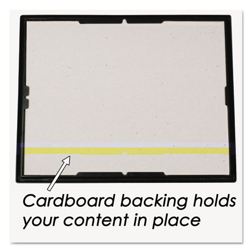 EZ Mount Document Frame with Trim Accent, Plastic Face , 8.5 x 11, Black/Gold. Picture 4