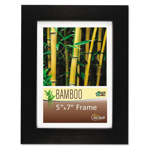 Bamboo Frame, 5 x 7, Black. Picture 1