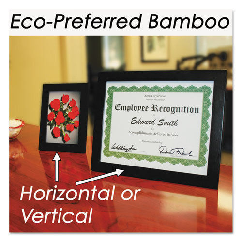 Bamboo Frame, 8 1/2 x 11, Black. Picture 6