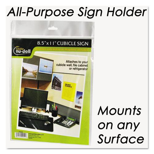 Clear Plastic Sign Holder, All-Purpose, 8 1/2 x 11. Picture 3