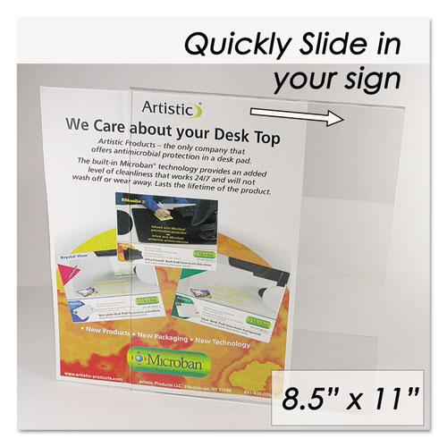 Clear Plastic Sign Holder, All-Purpose, 8 1/2 x 11. Picture 2