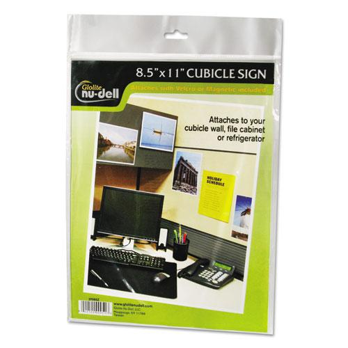 Clear Plastic Sign Holder, All-Purpose, 8 1/2 x 11. Picture 1