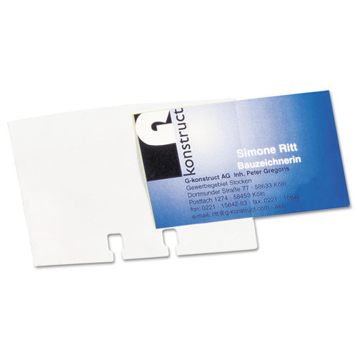VISIFIX Double-Sided Business Card Sleeves, 40/Pack. Picture 2