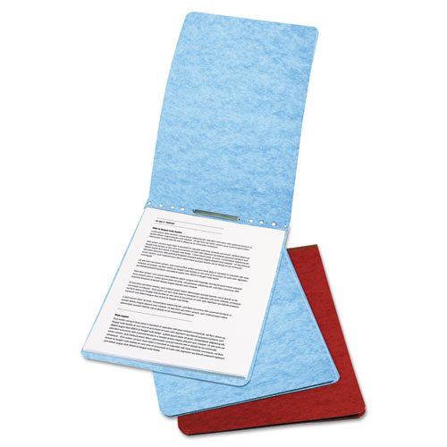 """Presstex Report Cover, Top Bound, Prong Clip, Letter, 2"""" Cap, Red. Picture 1"""