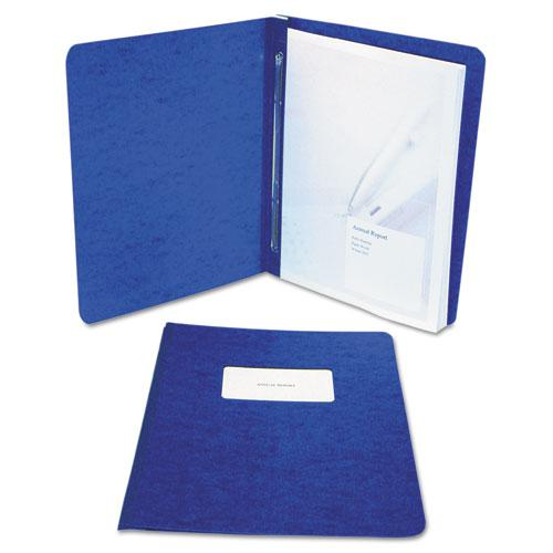 "Presstex Report Cover, Side Bound, Prong Clip, Letter, 3"" Cap, Dark Blue. Picture 3"