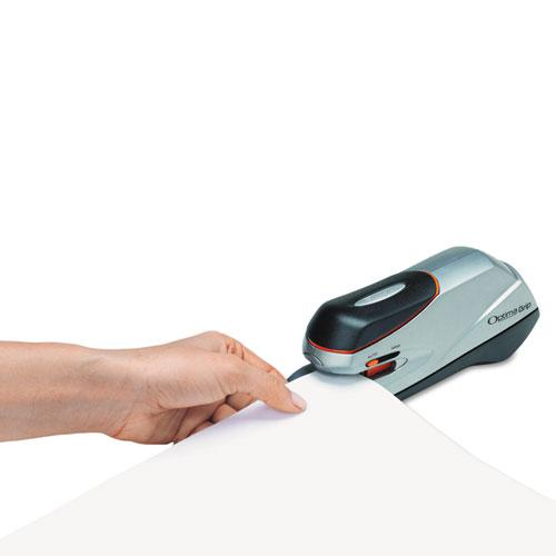 Optima Grip Electric Stapler, 20-Sheet Capacity, Black/Silver. Picture 5
