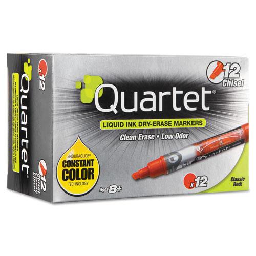 EnduraGlide Dry Erase Marker, Broad Chisel Tip, Red, Dozen. Picture 1