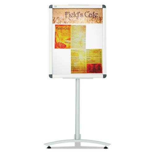 "Improv Lobby Clip-Frame Pedestal Sign, 18 x 24 Frame, 54"" High, Aluminum. Picture 3"