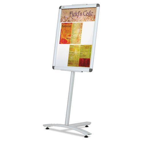 "Improv Lobby Clip-Frame Pedestal Sign, 18 x 24 Frame, 54"" High, Aluminum. Picture 4"