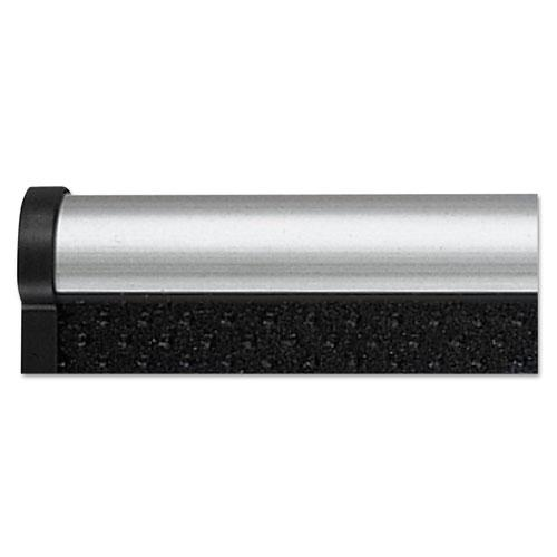 Prestige Embossed Foam Bulletin Board, 72 x 48, Black, Aluminum Frame. Picture 6