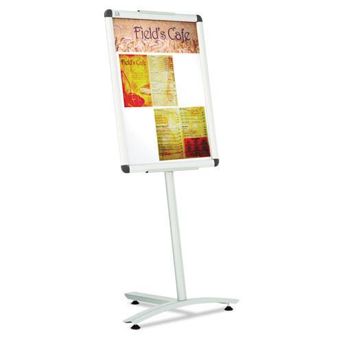 "Improv Lobby Clip-Frame Pedestal Sign, 18 x 24 Frame, 54"" High, Aluminum. Picture 1"