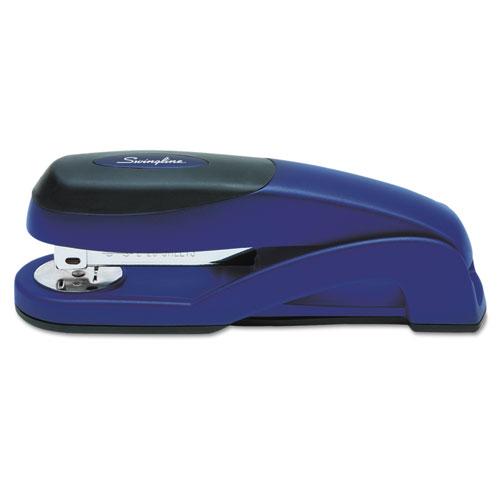 Optima Full Strip Desk Stapler, 25-Sheet Capacity, Metallic Blue. Picture 2