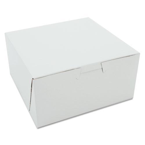 Non-Window Bakery Boxes, 6 x 6 x 3, White, 250/Carton. Picture 1