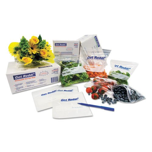 """Food Bags, 18 qt, 0.68 mil, 10"""" x 20"""", Clear, 1,000/Carton. Picture 1"""
