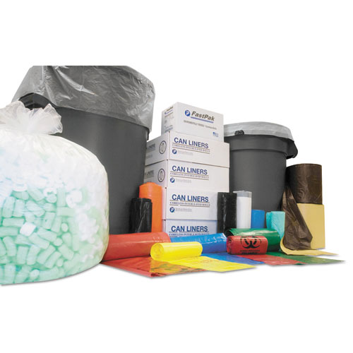"""Institutional Low-Density Can Liners, 33 gal, 0.70 mil, 33"""" x 39"""", White, 150/Carton. Picture 1"""