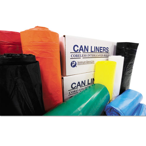 """Institutional Low-Density Can Liners, 33 gal, 0.70 mil, 33"""" x 39"""", White, 150/Carton. Picture 2"""