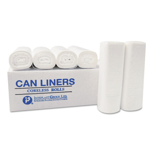 """Institutional Low-Density Can Liners, 33 gal, 0.70 mil, 33"""" x 39"""", White, 150/Carton. Picture 3"""