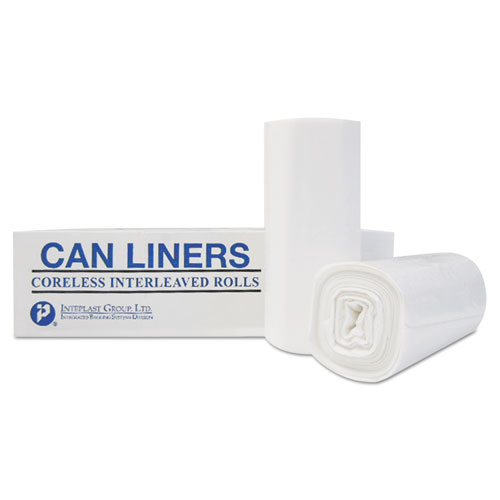"""Institutional Low-Density Can Liners, 33 gal, 0.70 mil, 33"""" x 39"""", White, 150/Carton. Picture 4"""