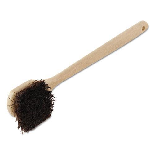 "Utility Brush, Palmyra Bristle, Plastic, 20"", Tan Handle. Picture 1"