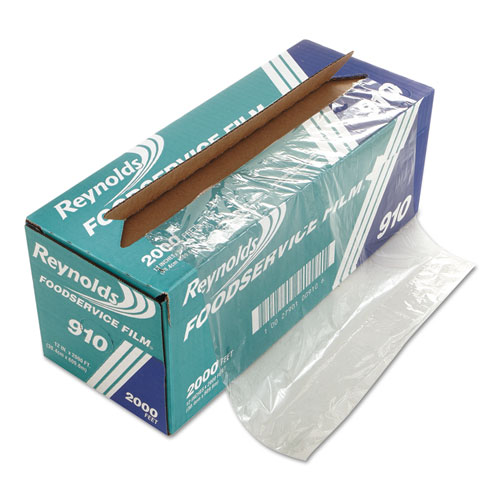 "PVC Film Roll with Cutter Box, 12"" x 2000 ft, Clear"