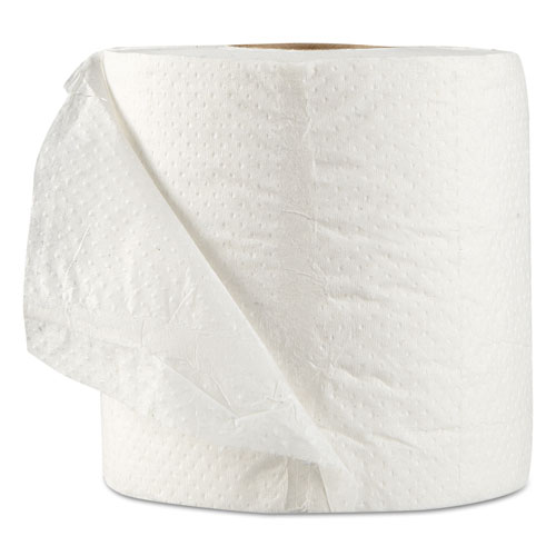 Standard Bath Tissue, Septic Safe, 1-Ply, White, 1,000 Sheets/Roll, 96 Wrapped Rolls/Carton. Picture 2