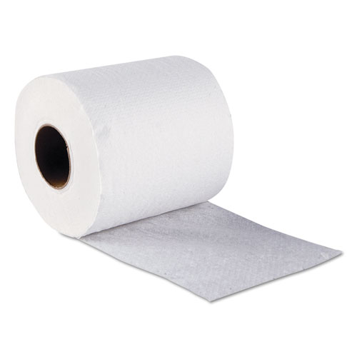 Standard Bath Tissue, Septic Safe, 1-Ply, White, 1,000 Sheets/Roll, 96 Wrapped Rolls/Carton. Picture 3
