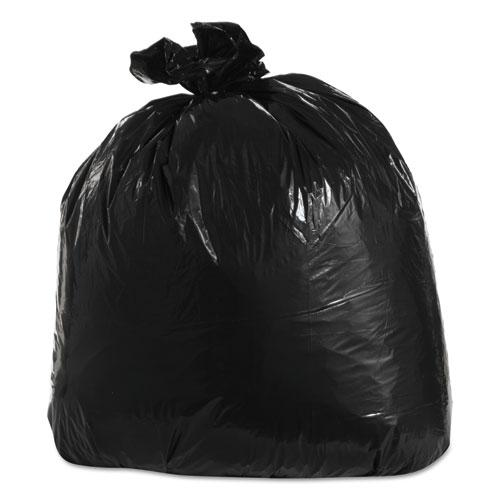 Low-Density Can Liners, 33gal, 23w x 10d x 39h, 1.3 mil, Black, 100/Carton. Picture 1