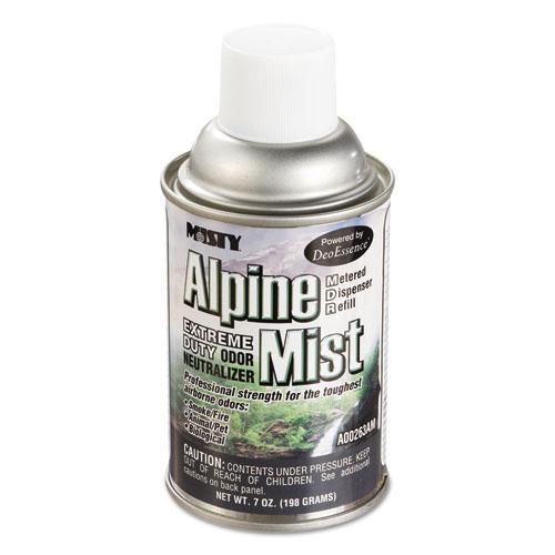 Metered Odor Neutralizer Refills, Alpine Mist, 7 oz Aerosol, 12/Carton. Picture 1
