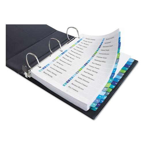 Customizable TOC Ready Index Double Column Multicolor Dividers, 32-Tab, Letter. Picture 4