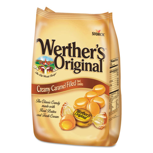 Hard Candies, Caramel with Caramel Filling, 30 oz Bag. Picture 1