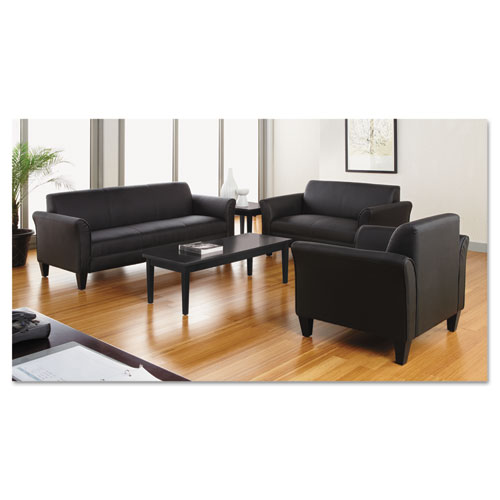 Alera Valencia Series Occasional Table, Rectangle, 47 1/4w x 19 1/8d x 16 3/8h, Black. Picture 2