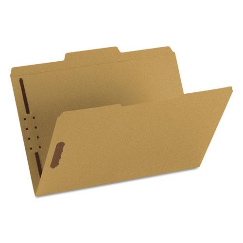 Top Tab 2-Fastener Folders, 1/3-Cut Tabs, Legal Size, 11 pt. Kraft, 50/Box. Picture 2